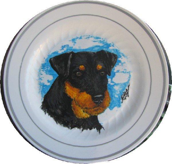 Рисунок Ягдтерьер (тарелочка)