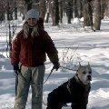 Я и Гоша . Лосиноостровский лесопарк .
