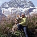 Домбай. На фоне горы Сулахат я и Гоша.