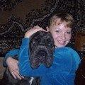Это я с чудным щенком. Тайгер