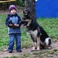 Тимур Покровский с ВЕО Панжея Симоной на детских соревнованиях